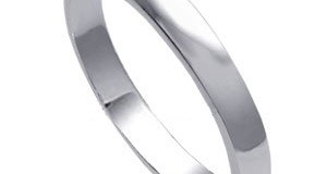 Sterling Silver 3mm Wedding Band Ring (Size 4 to 14)