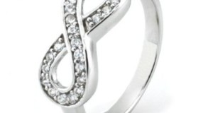925 Sterling Silver Cubic Zirconia Infinity Symbol CZ Wedding Band Ring, Limited time offer at special price