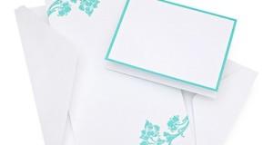 Aqua Flourish Wedding Invitation Kit