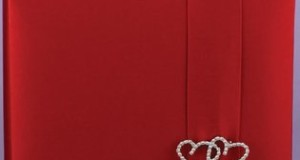 Red Wedding Guest Book: 'Claret with all my Heart', 1