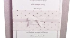 Wilton Wedding Invitation Kit Silver Heart Wrap 25 Count 1008-1611