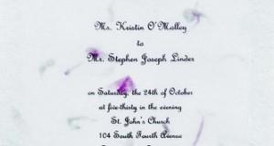 Gartner Studios Petals Hand-Made Paper Wedding Invitation Kit, Pink, 10-Count (61034)