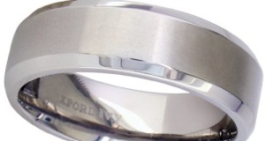 7mm Beveled Edge Comfort Fit Titanium Wedding Band ( Available Ring Sizes 7-12 1/2)
