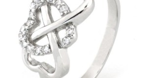 925 Sterling Silver Cubic Zirconia Infinity & Heart Symbol CZ Wedding Band Ring, Limited time offer at special price