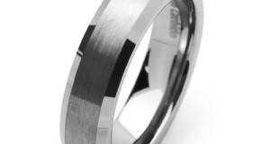 Tungsten Carbide Satin Men's Wedding Band Ring Size 5-16