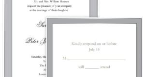 Gartner Studios Elegant Border Wedding Invitation Kit, Platinum, 50-Count (61059)