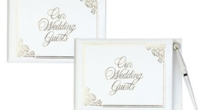 Baby Keepsake: White Wedding Guest Book – Without Pen
