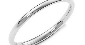 Sterling Silver 2MM High Polish Plain Dome Tarnish Resistant Comfort Fit Wedding Band Ring w/ FREE Gift Box