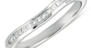 0.25 Carat (ctw) 14k White Gold Princess Diamond Ladies Anniversary Wedding Band Guard Ring 1/4 CT