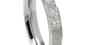 4MM 316L Stainless Steel Sparkle Finish Beveled Men's Wedding Band Ring