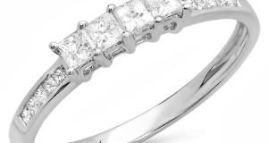 0.50 Carat (ctw) 14k White Gold Princess Cut Diamond Ladies Anniversary Wedding Band Stackable Ring 1/2 CT