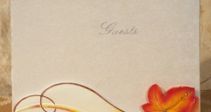 Fall / Autumn Themed Wedding Guest Book from FavorOnline