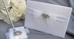 Fairytale Wedding Guest Book with Cinderella Coach