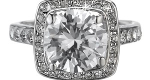 D&j Jewelry 18k White Gold Plated Sparkly Round Cut Cubic Zirconia Women's Wedding Band Engagement Ring R226