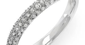 0.25 Carat (ctw) Round White Diamond Ladies Pave Anniversary Wedding Band Stackable Ring 1/4 CT