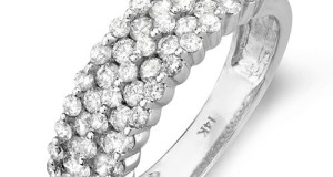 1.00 Carat (ctw) 14k White Gold Round Diamond Ladies Anniversary Wedding Band Ring 1 CT