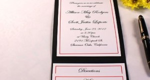 All-in-One Pocket Invitation Kit – Black Elegance – Pack of 20