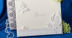 Butterfly design wedding guest book, 8