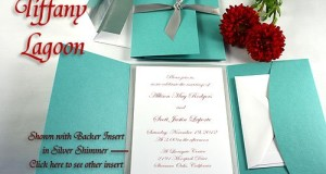 Pocket Folder Invitation Kit – Tiffany Lagoon Blue – Pack of 20