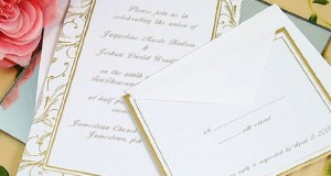 Gold Swirl Wedding Invitation Kit