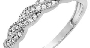 0.25 Carat (ctw) Round Diamond Ladies Anniversary Wedding Stackable Band Swirl Ring 1/4 CT