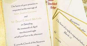 Gold Deckled Printable Invitation Kit