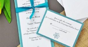Teal Hibiscus Printable Invitation Kit