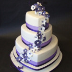 Purple Heart Wedding Cake